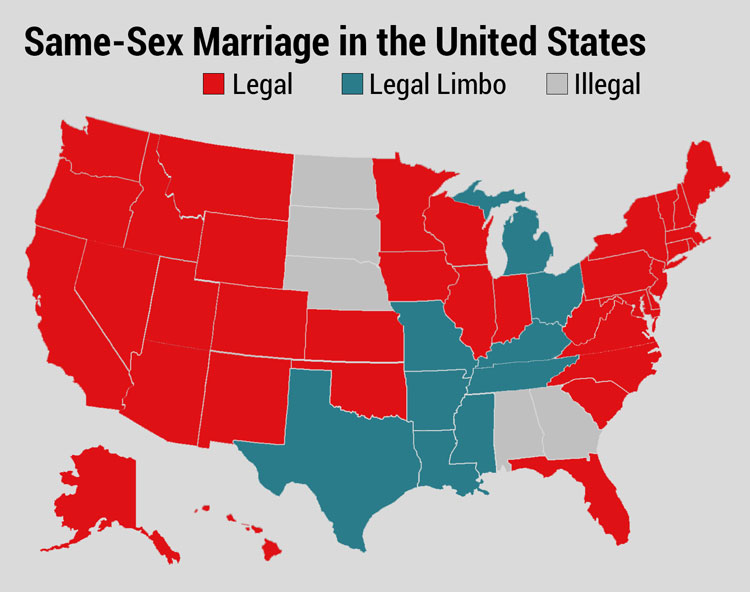 Same sex marriage states